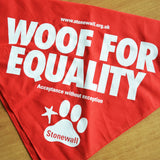 Woof For Equality doggie bandana