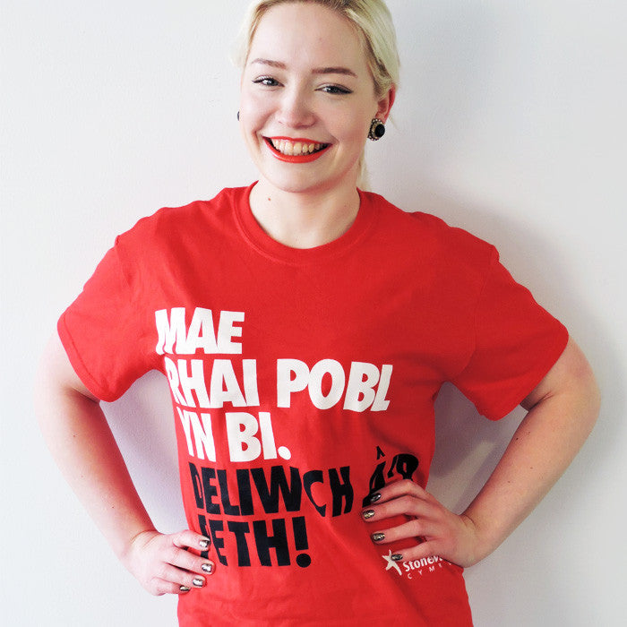 Some People are Bi. Get over it! (Welsh language) t-shirt