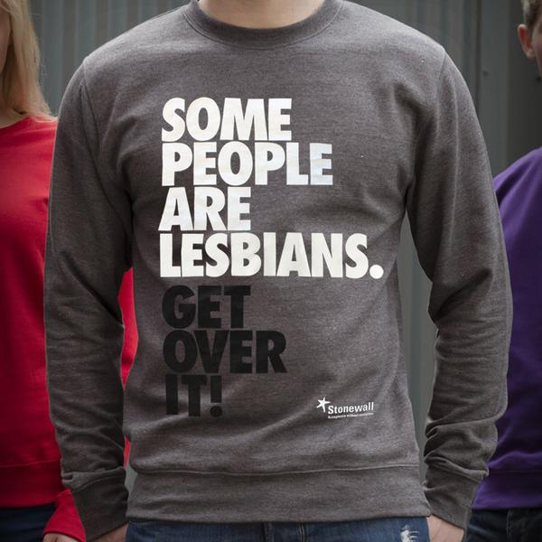Some People are Lesbian. Get Over it! Grey Sweatshirt