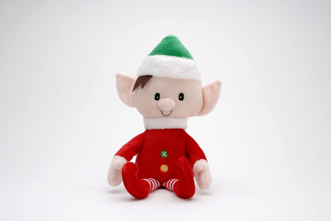 Christmas Boy Elf toy with velcro hands and poseable arms