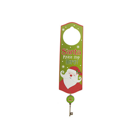 Santa Wooden Door Hanger with Magic Key