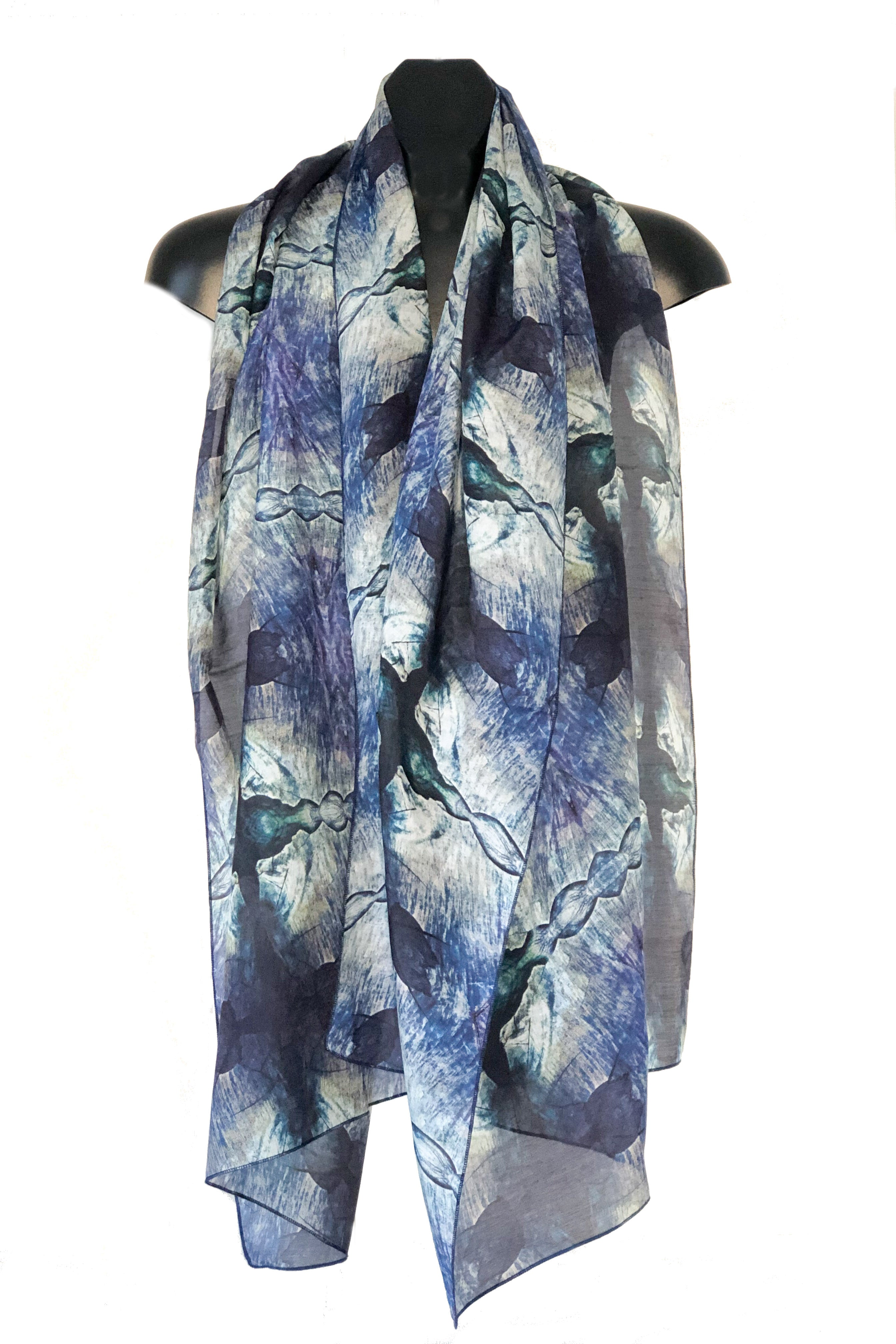 """Layers of Time"" Cotton/Silk Voile Wrap"