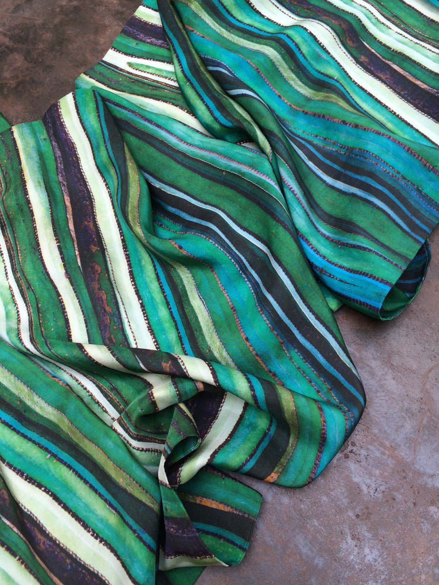 """Suculencia"" Double Layer Silk Wrap"
