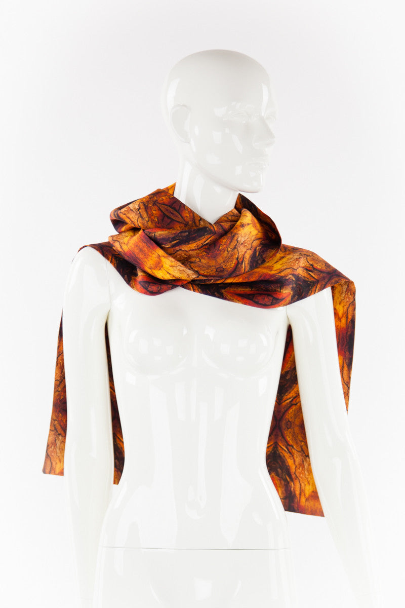 """FIRE"" Double Layer Silk Scarf"