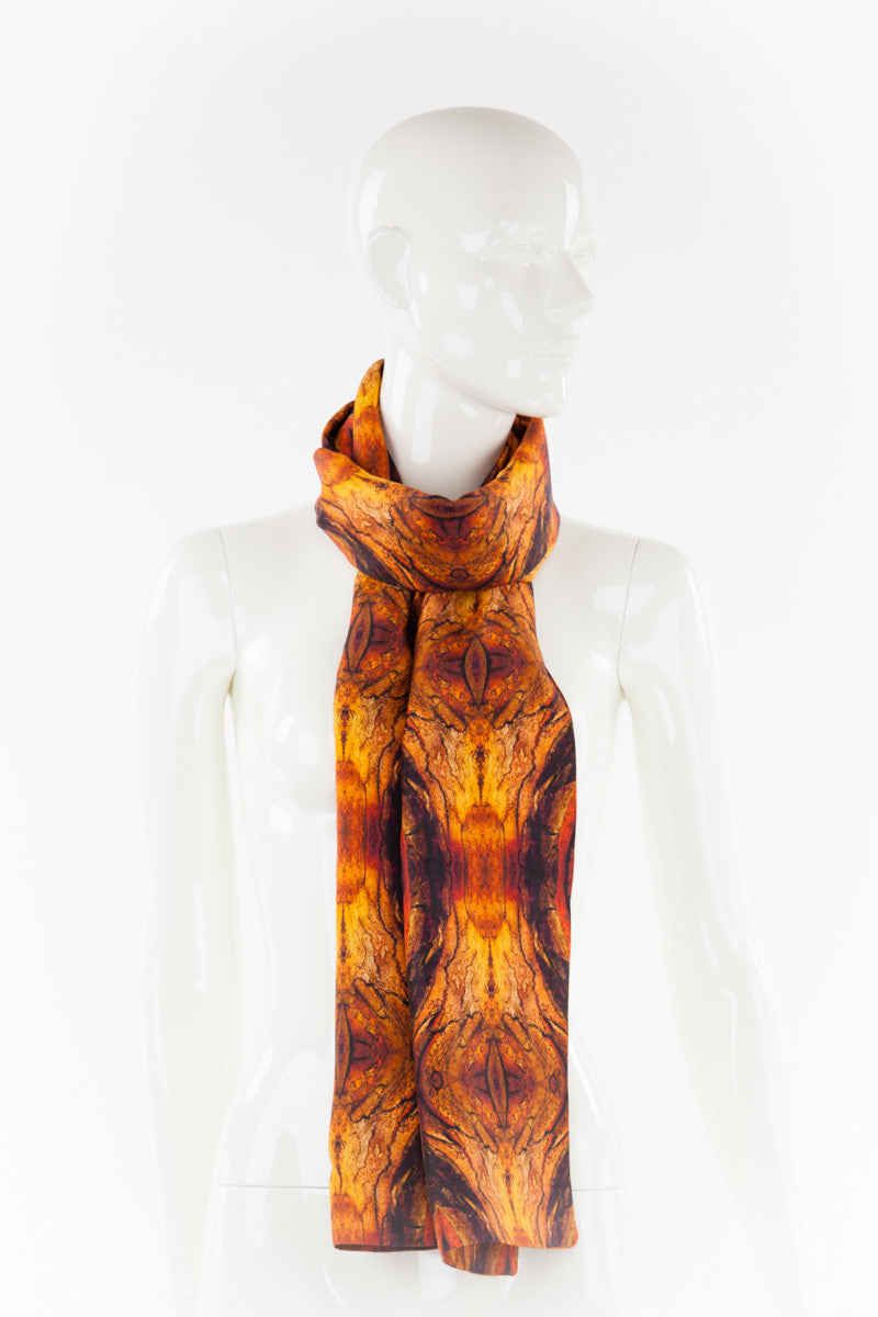 "Silk Scarf ""FIRE"""
