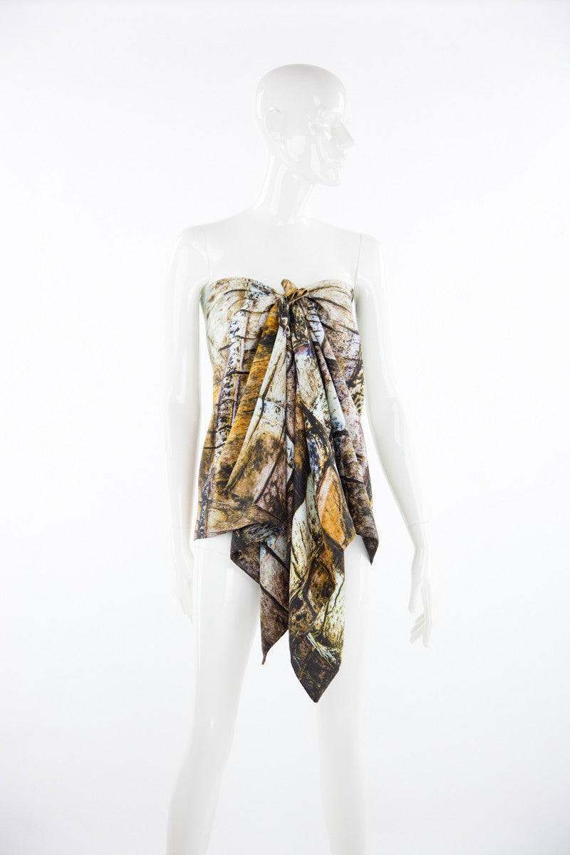 """Boca de Iguana"" Double Layer Silk Wrap"