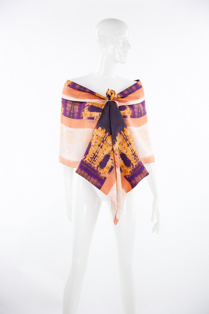 """Pozos Magic"" Double Layer Silk Wrap"