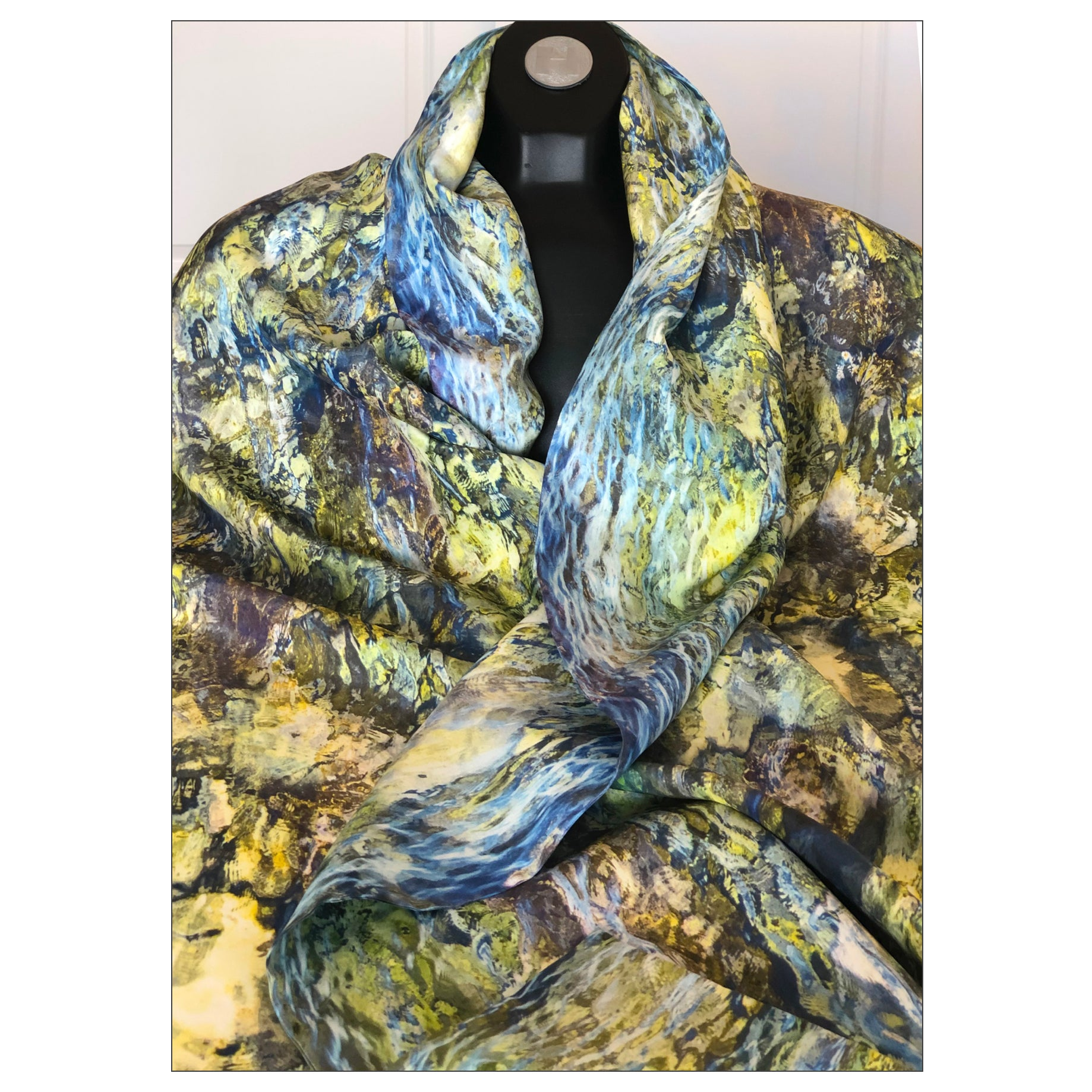 """Swimming Stone"" Double Layer Silk Wrap"