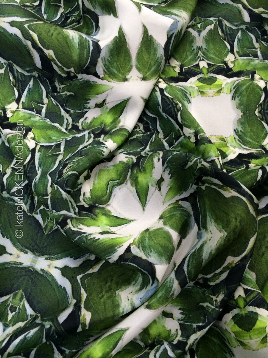 "Silk Wrap ""June Leaves"""