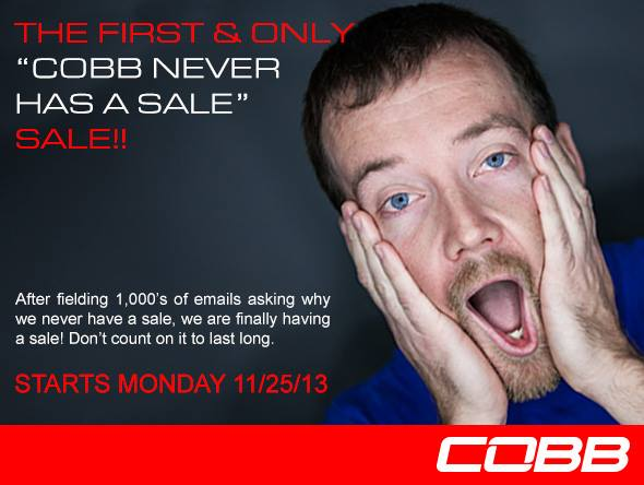 Cobb Tuning Holiday Sale 2013