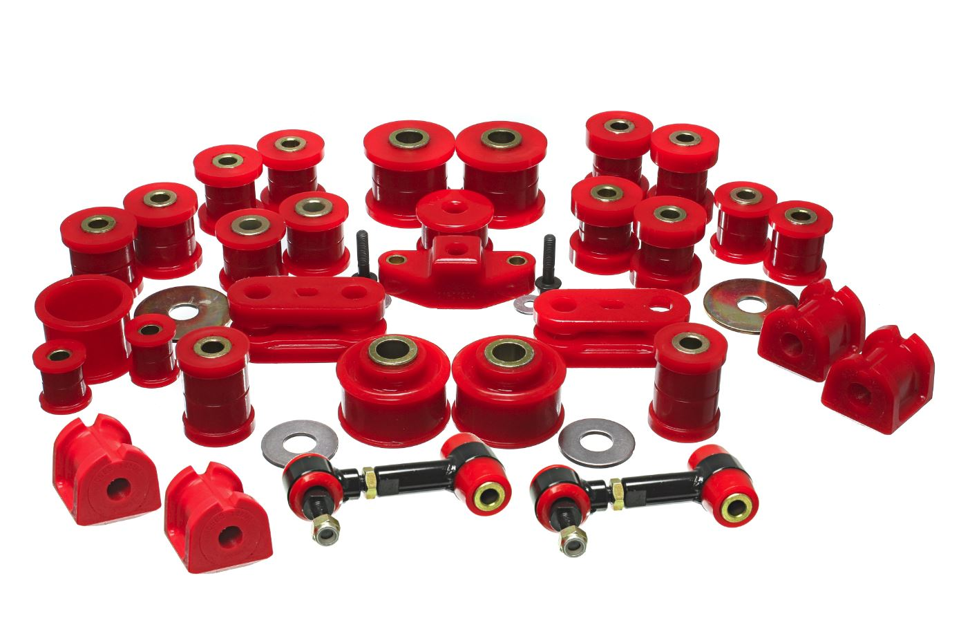 red hyper-flex bushing kit
