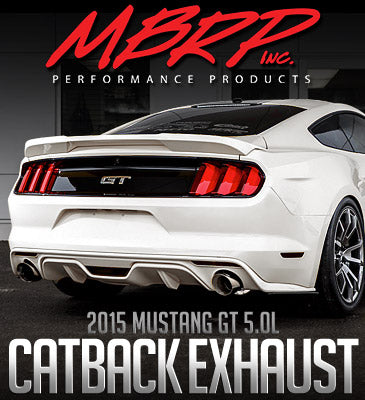 """2015 Ford Mustang GT 3"""" Cat Back, Exhausts"""