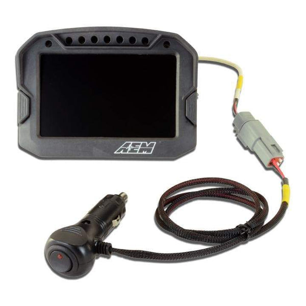 AEM CD Carbon AEMNet Power Adapter w/ Standard 12V Power Port Interface (30-2227)