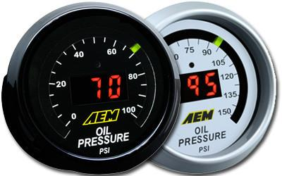 AEM Digital Oil Pressure Gauges 0-150 PSI (30-4407)