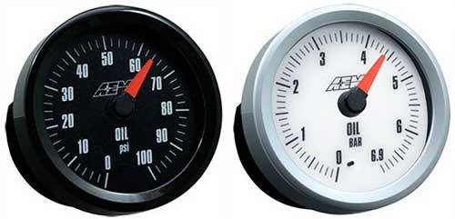 AEM Analog Pressure Gauge 0-100 PSI 30-5133 - Modern Automotive Performance