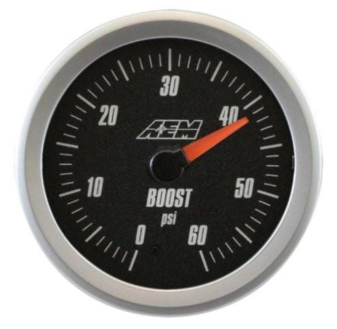 AEM Analog Boost Gauges 0-60 PSI (30-5137)