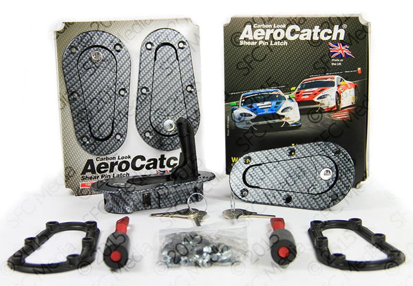 Aerocatch Carbon Look Hood Pins Plus Flush Locking Kit (120-3100)