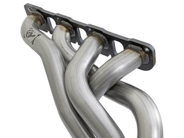 "aFe Twisted Steel 2"" Street Headers w/ Connecting Pipes 