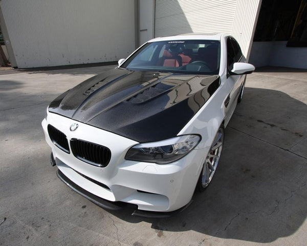 Carbon Fiber Hood DTM Style BMW F10 M5 550 535 528 2011+ by Agency Power - Modern Automotive Performance