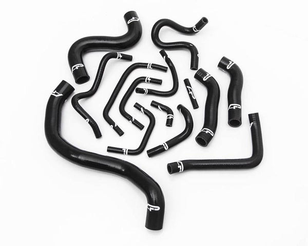 14pc Black Silicone Radiator Hose Kit Nissan GTR R35 08-15 by Agency Power - Modern Automotive Performance