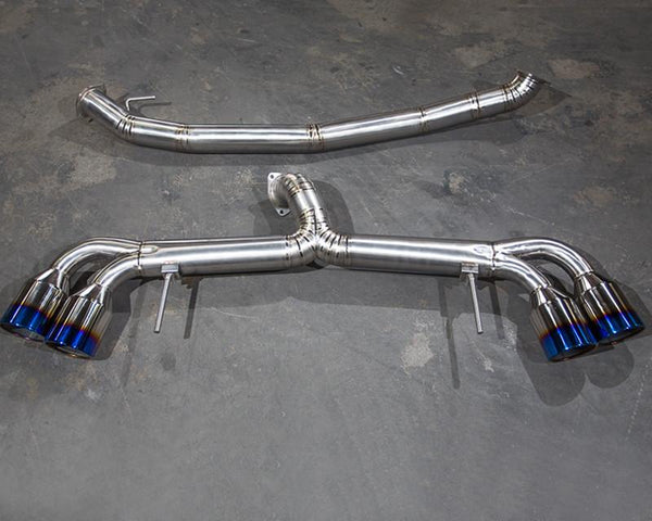 Agency Power Titanium Exhaust System 90mm Piping 120mm Tips Nissan R35 GT-R 09-14 by Agency Power - Modern Automotive Performance