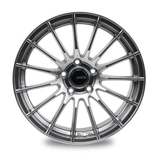 "Ambit RE02 5x100 17x9.0"" +35mm Offset Black Chrome Wheels"
