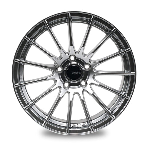 "Ambit RE02 5x114.3 17x9.0"" +35mm Offset Hyper Black Wheels"