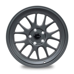 "Ambit RE83 5x114.3 18x9.5"" +15mm Offset Matte Gunmetal Wheels"