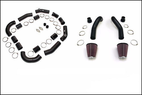 AMS Alpha Induction Kit for TiAL BOV (Black) | 2009-2015 Nissan R35 GT-R (ALP.07.09.0003)