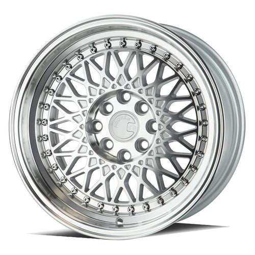 "AodHan AH05 Wheels - 4x100/114.3 15x8.0"" +20mm Offset - Silver Machined Face"