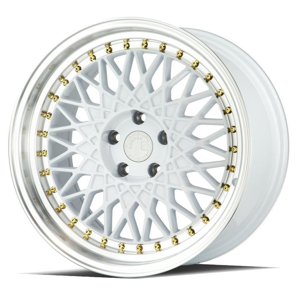 "AodHan AH05 Wheels - 5x100 18"" - White w/ Machined Lip"