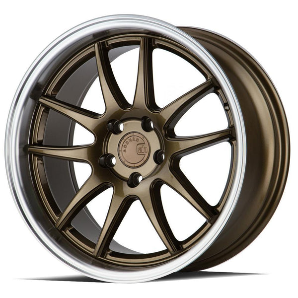 "AodHan DS02 Wheels - 5X100 18"" - Bronze w/Machined Lip"