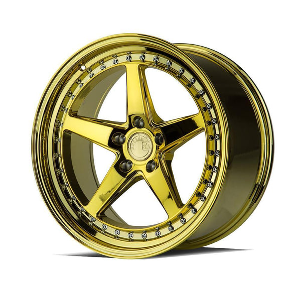 "AodHan DS05 Wheels - 5x114.3 19"" - Gold Vacuum"