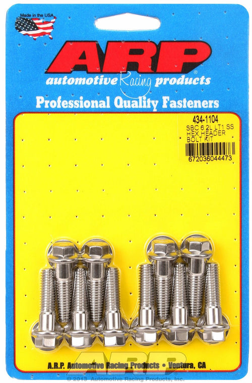 Chevrolet LT1 6.2L Small Block Hex Header Bolt & Stud Kit by ARP (434-1104) - Modern Automotive Performance