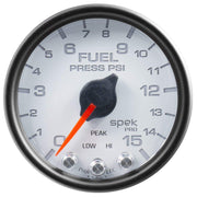 "Autometer Spek-Pro 2 & 1/16"" Fuel Press Gauge 15PSI"