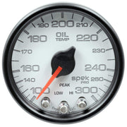 "Autometer Spek-Pro 2 & 1/16"" Oil Temp Gauge 100-300F"
