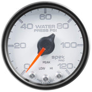 "Autometer Spek-Pro 2 & 1/16"" Water Press Gauge 120PSI"