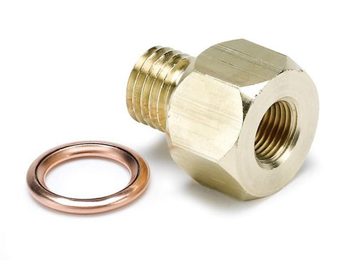 "Auto Meter 1/8"" NPT to M12x1.5 Electric Temperature or Pressure Adapter 