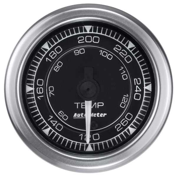 "Auto Meter Chrono 2-1/16"" 120-280 °F Temperature Gauge (8154)"