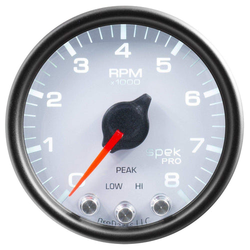 "Autometer Spek-Pro 2 & 1/16"" Tachometer w/ Shift Light 8K RPM"