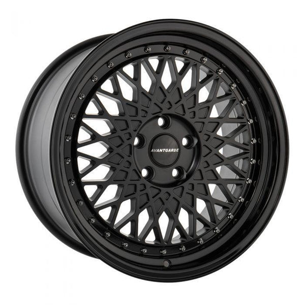 "Avant Garde M220 Series 5x112 18"" Matte Black w / Gloss Black Wheels"