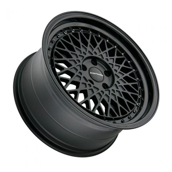 "Avant Garde M220 Series 5x114.3 18"" Matte Black w / Gloss Black Wheels"