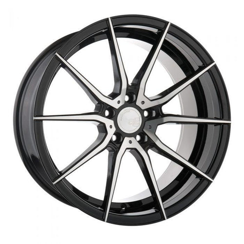 "Avant Garde M652 Series 5x120 20x11.0"" +73mm Offset Machined Black Wheels"