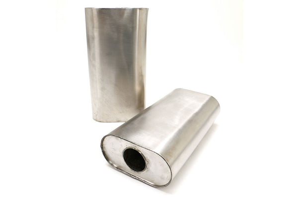 "Billy Boat 3.0"" Center Inlet/Outlet Benchmark Muffler - 9x5"" Oval/16"" Long (WMUF-0650)"