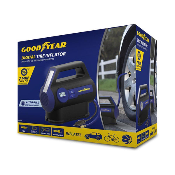Goodyear Digital Tire Inflator - 7 Minutes Flat to Full (GY7D)