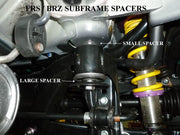 Battle Version Subframe Spacers | 2013-2020 Subaru BRZ / Scion FR-S (BV-BRZ-FRS-SUBFRAME)
