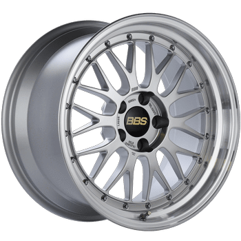 "BBS LM Series 5x114.3 18x10.0"" +20mm Offset Diamond Silver Wheels"