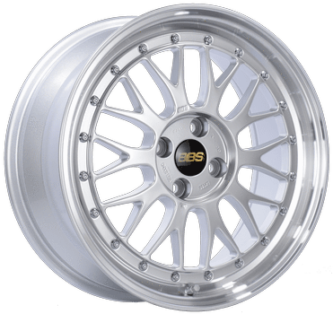"BBS LM Series 4x100 17x7.5"" +40mm Offset Diamond Silver Wheels"