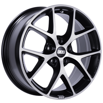 "BBS SR Series 5x108 18x8.0"" +42mm Offset Volcano Grey Diamond Cut Wheels"