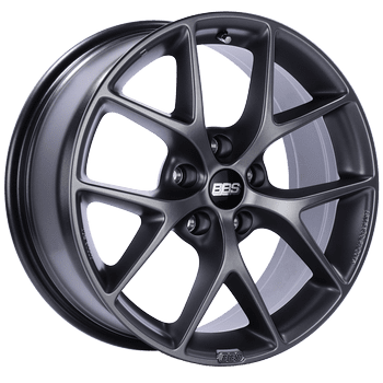 "BBS SR Series 5x127 18x8.0"" +50mm Offset Satin Grey Wheels"